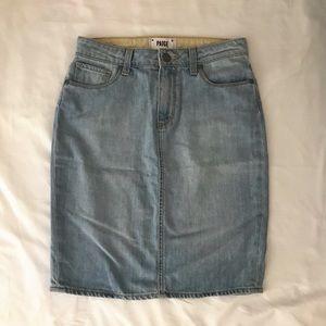 Paige Denim Skirt in Light Wash size 26